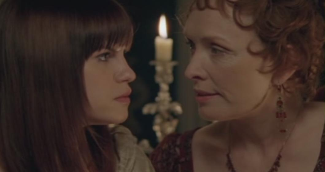 "Lady Catherine de Bourgh warns Amanda, ""You cannot have Fitzwilliam Darcy."""