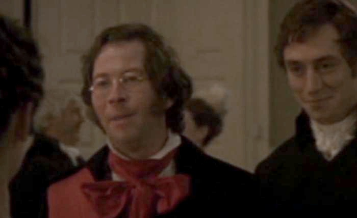 Miles Breen as James King, Master of Ceremonies in 2007 Northanger Abbey