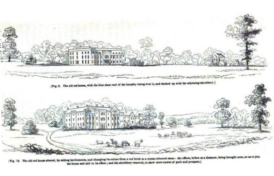 Repton's suggested improvements for house and landscape, p. 48, The Landscape Gardening and the Landscape Garden of the Late Humprhey Repton