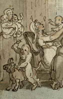 The nurse, detail of the Breedwell Family by Rowlandson