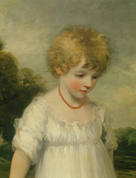 The Sackville Children, detail, John Hoppner, 1796