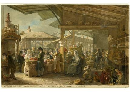 Old Covent Garden Market, 1825, George Scharf