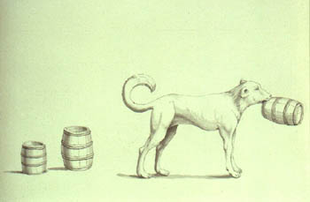 """Portland Sea Dog: """"portrait of a dog which brought 3 barrels of spirits out of the sea."""""""