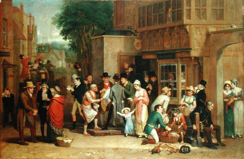 The Post Office, Edward Villiers Rippingille, 1820