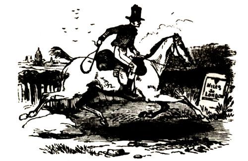 Post-Boy En Route to London, 1800