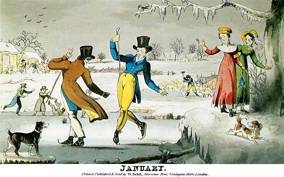 18th Century Skating Jane Austens World