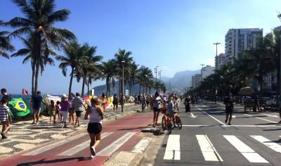 Strandpromenaden på Ipanema beach