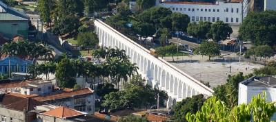 Lapas akvædukt set oppe fra  Santa Teresa