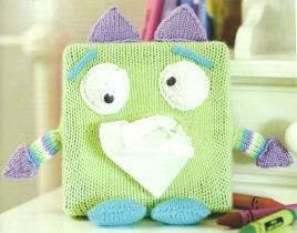 Monster tissue box cover