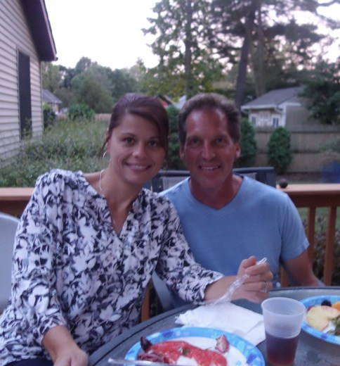 Cousin Tim and wife Brandi, Rice side