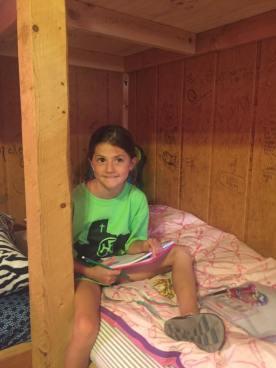 In her cabin