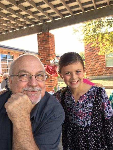 Grandparents' lunch at Elle's school