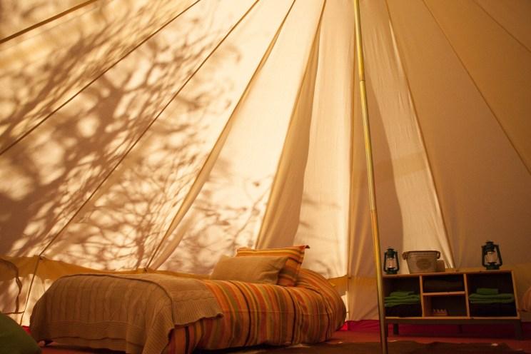 tent interior