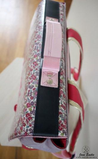 couture cartable d'écolier personnalisé