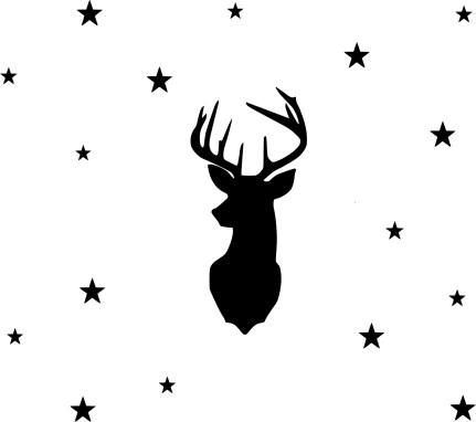 cerf et étoiles taille M sans plotter