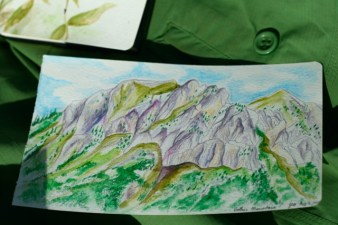 Gothic Mountain in Coloured Pencil