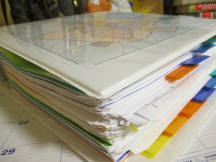 A lot of research goes into each book. This is my binder of notes for my second book, Vestal.
