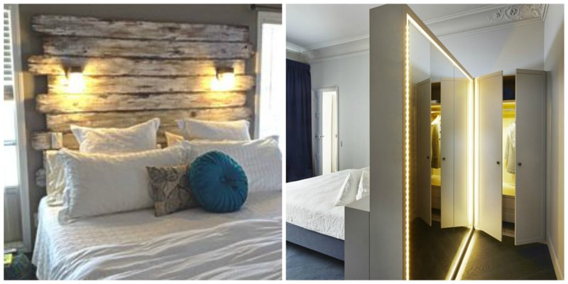 assess the space bedroom lighting