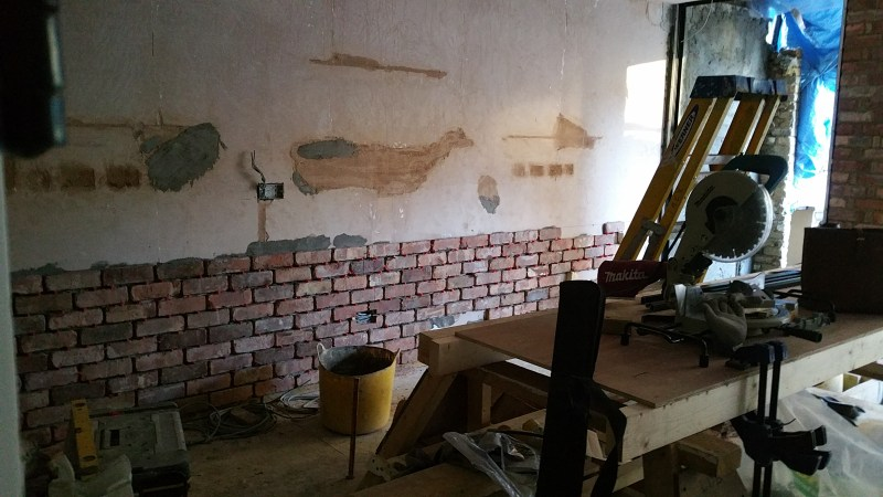 jane fitch interiors brick slips clapham fake brick wall