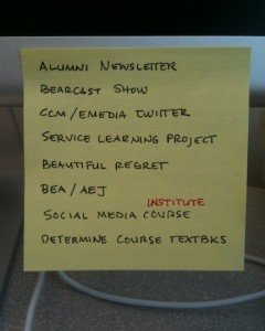 One of my Post-It lists