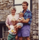 Barbara Becker with son and grandsons, 1990