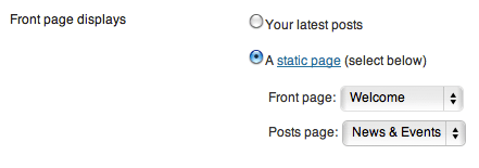 Wordpress close-up static