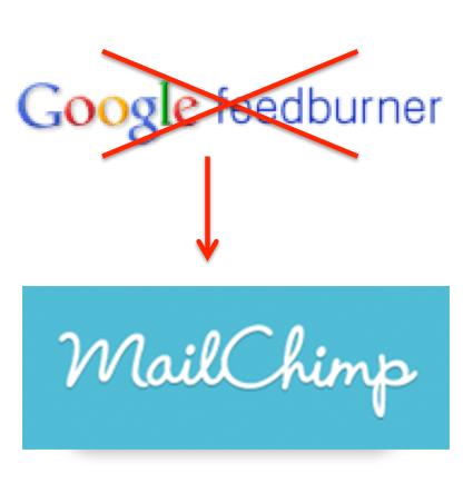 Leaving Feedburner for MailChimp