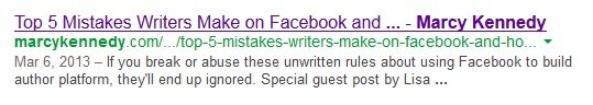 Search result without Google Authorship
