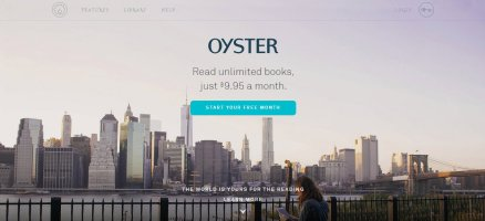 Oyster homepage