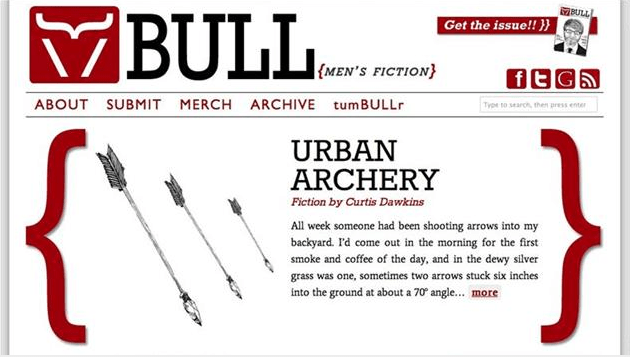 BULL Men's Fiction site look, 2011-2012