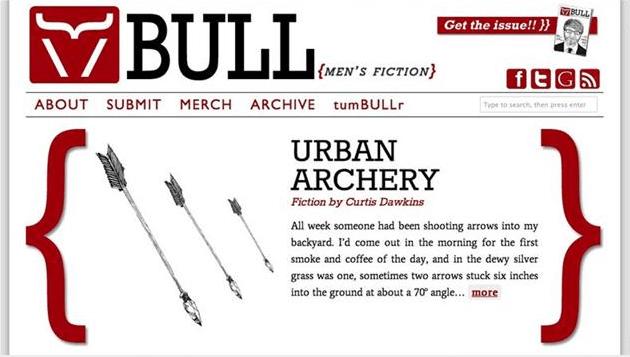 BULL Men's Fiction site look, 2011-2012