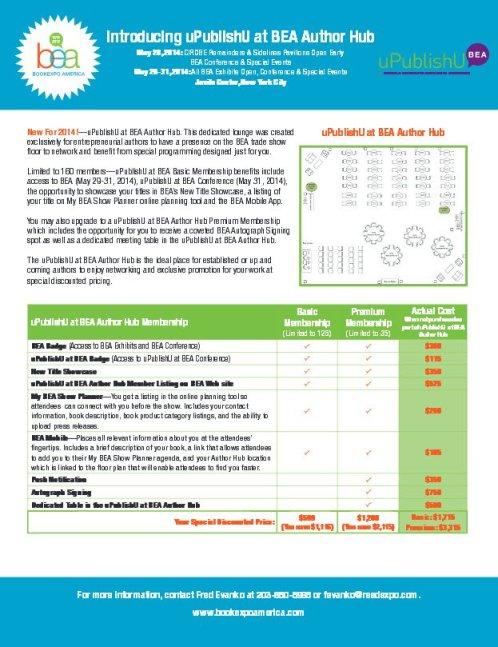 BEA Author Hub PDF 16 January 2014