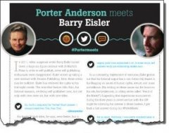 Barry Eisler #PorterMeets 10 January 2014 torn The Bookseller