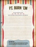 PDF of P.T. Burn-'Ems page from The Write-Brain Workbook