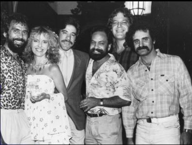 Bo Sacks with Cheech and Chong at the Friar's Club after shooting the <i>High Times</i> cover