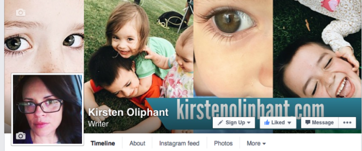 Kirsten Oliphant's Facebook page cover