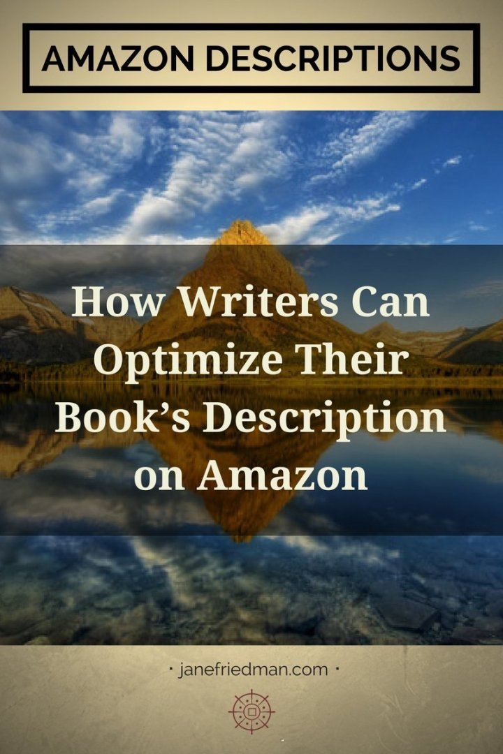 "C. S. Lakin writes on Amazon Descriptions: ""If you're an author, you may not like thinking about your published books as products, but that's what they are. And the description section on your book's product page is the most important selling tool you have."""