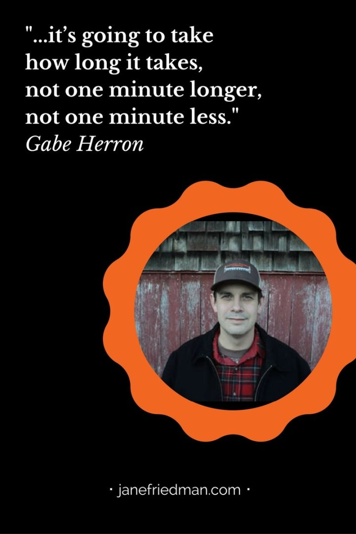 I have advised young writers to have patience—with themselves, with the publishing process, and with their development. Writer Gabe Herron recently wrote an essay for Glimmer Train that echoes that theme as well. Click here for a link to his full essay.
