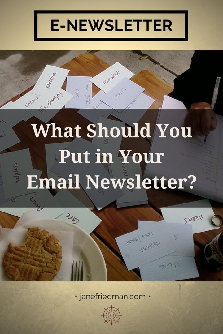 """Consider email simply as another piece of content for your readers. You can create content, right? I thought so. Then you can write an email without freaking out. I promise."" -author Kirsten Oliphant third post in a series on email about making the process of writing an e-newsletter simple and accessible"
