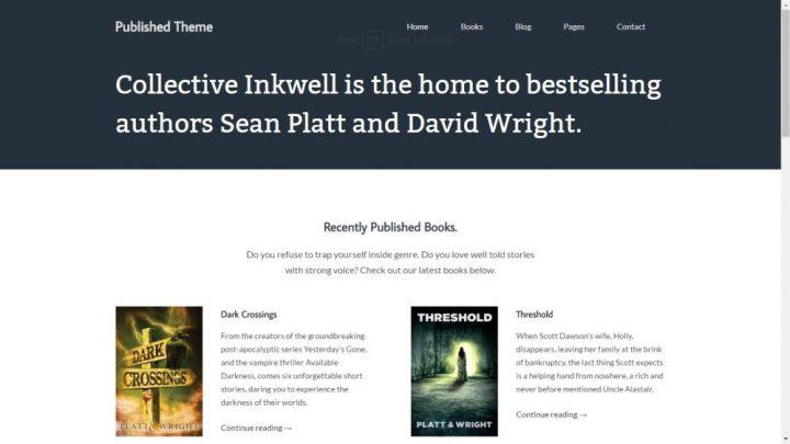 published wordpress theme