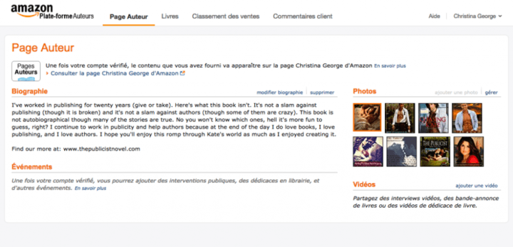 France author page