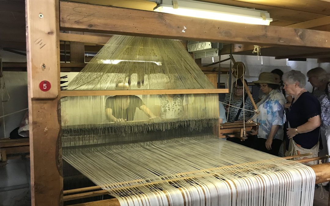 Jacquard weaving in Perugia