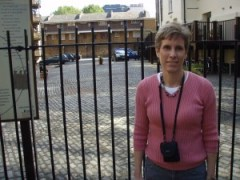 Me, a lover of Shakespeare, at the site of the original Globe Theater