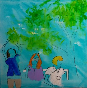 Summertime II 50 x 50 cm