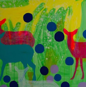 Do a deer 90 x 90 cm