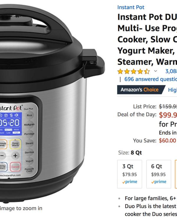 Instant Pot Deal on Amazon
