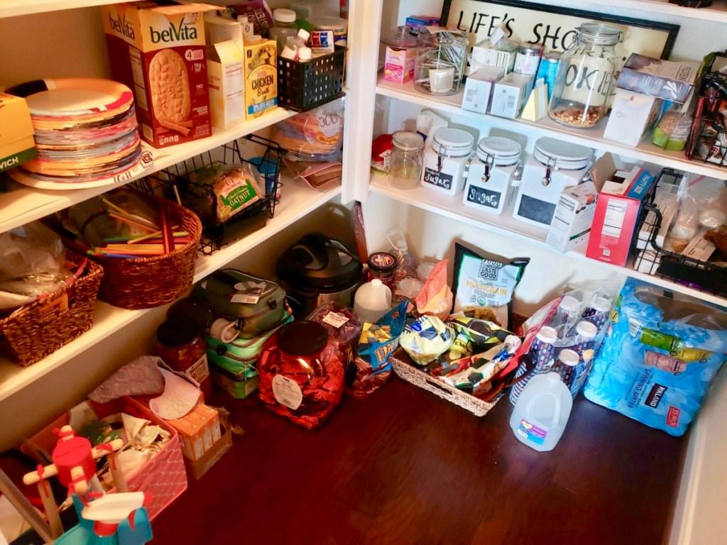 Before pantry floor