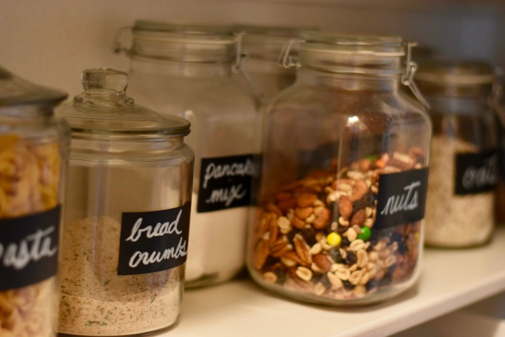 Glass jars for dry goods