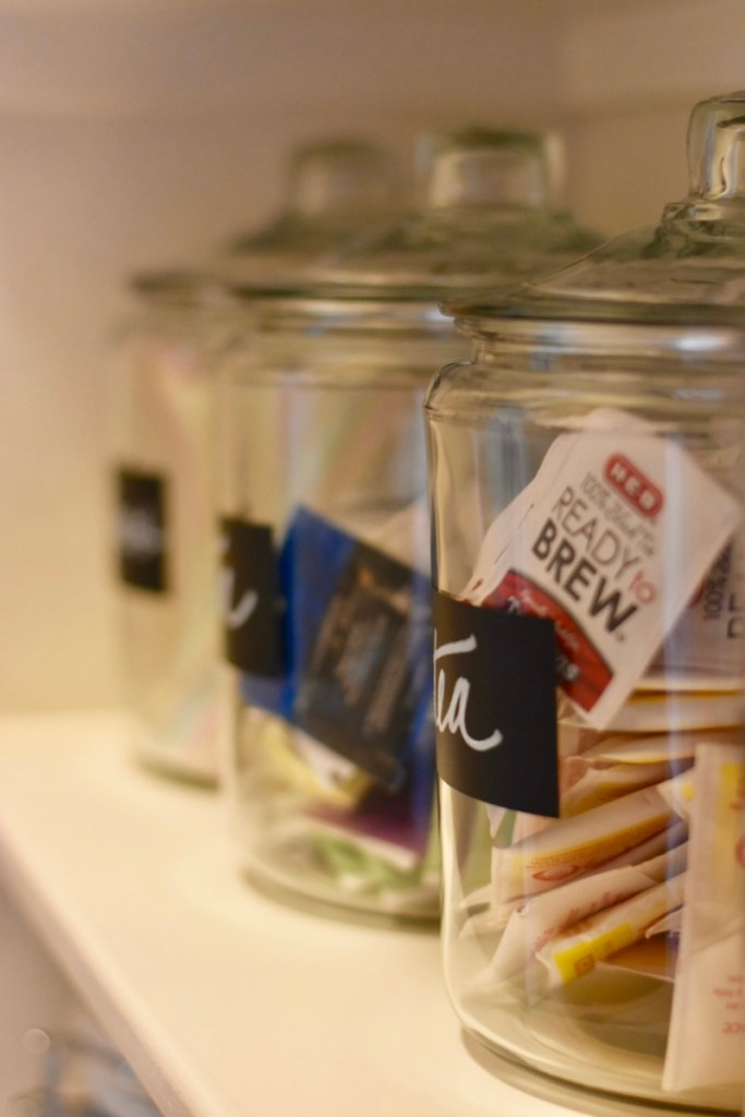 Anchor hocking jars, organized creative design