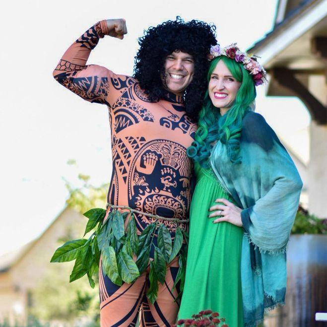 Te Fiti and Maui Couples costume
